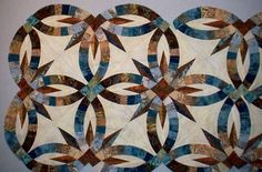 Bali Bed Runner~Quiltworx.com, made by Andrea Schnur