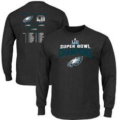Philadelphia Eagles NFL Pro Line by Fanatics Branded Super Bowl LII  Champions Super Venue Schedule Long Sleeve T-Shirt – Black b90df5810