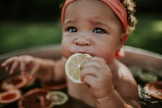 recent photoshoot I did with a 7 month old baby girl. a fruit bath mini session perfect for summer photos. the pictures look extra cute with the moody editing (using lightroom LR) Bath Photography, Baby Girl Photography, Children Photography, Photography Ideas, Newborn Pictures, Baby Pictures, Baby Photos, Newborn Pics, New Baby Dress