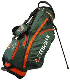 Golf Bags - Miami Hurricanes Golf Bag Get the very best in Golf Push Carts and More at http://bestgolfpushcarts.net/product-category/golf-push-carts/clicgear/