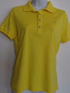 Ralph Lauren RLL Women's Yellow 100% Cotton  S/S Polo T-Shirt Size Small NWT #RalphLauren #Polo