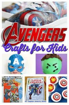 Are your little movie fans looking for more Marvel fun now that Avengers Endgame is in theaters? Here are some fun Avengers crafts for kids. Cute Kids Crafts, Craft Projects For Kids, Diy For Kids, Craft Ideas, Easy Crafts, Disney Diy, Disney Crafts, Summer Activities For Kids, Summer Kids
