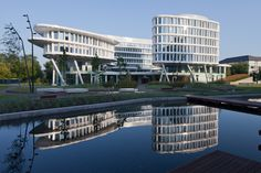 Built by Studio Fuksas in Warsaw, Poland with date 2013. Images by Piotr Krajewski. The Warszawa Business Garden is a plan for a business park composed of seven buildings housing offices, shops, hotels...