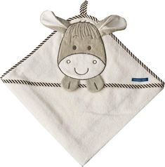 Morgenstern Hooded Towel with Stitched Donkey Motif 100 x 100 cm 100 % Cotton - Bath Tubs - Best baby care Morgenstern, Big Tub, Baby Center, Donkey, Baby Care, Hoods, Infant, Coin Purse, Beige