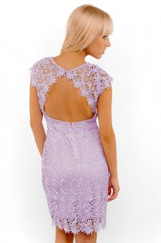 Flower Crochet Open Back Dress - Clothes | Maria Morena Wholesale