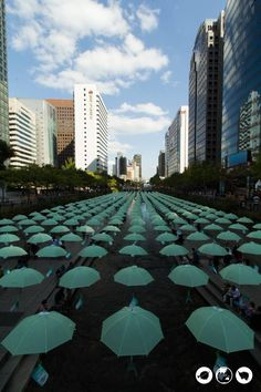 Your Itinerary for a Historical Day Trip in the Heart of Seoul - Bobo and ChiChi - Umbrellas-at-Cheonggye-Stream