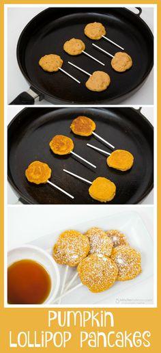 How to make pumpkin lollipop pancakes
