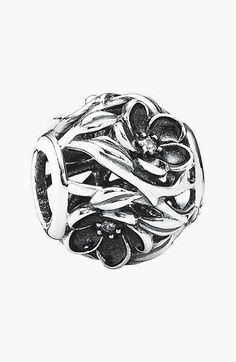 PANDORA 'Mystic Floral' Bead Charm available at #Nordstrom