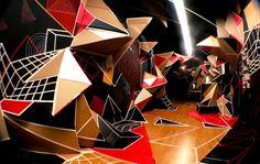 Clemens Behr - Installation artist. Using cardboard and tape only = MIND.BLOWN.