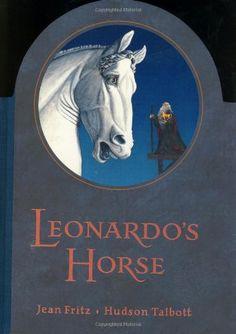 Leonardo's Horse by Jean Fritz http://smile.amazon.com/dp/0399235760/ref=cm_sw_r_pi_dp_ZVjPvb0SQ760B
