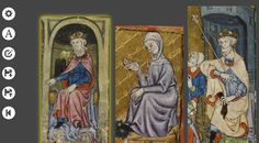 Using DigiPals Lightbox to compare iconography of gesture posture & authority the in Golden Haggadah