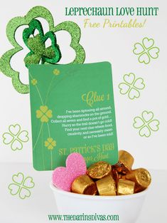 FUN St. Patty's Day scavenger hunt!  Free clue cards and everything.