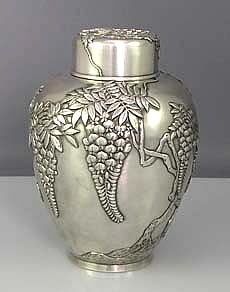 Japanese Sterling Silver Tea Caddy