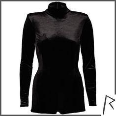 #RihannaforRiverIsland Black Rihanna velvet turtle neck playsuit. #RIHpintowin click here for more details >  http://www.pinterest.com/pin/115334440431063974/