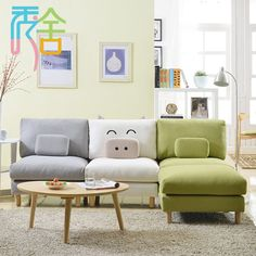 small sectional sofa - Google Search- Nice for a kids playroom