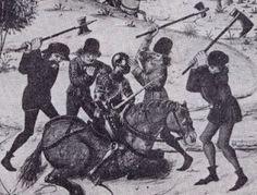 Raffigurazione dell'insurrezione dei contadini che rivendicavano i propri diritti,; protesta dalla quale Lutero prese le distanze e anzi istigò i principi allo sterminio dei rivoltosi .