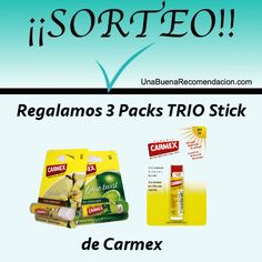 Sorteo 3 Packs TRIO Stick de Carmex