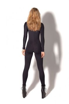 New Matte Black Long Sleeve Catsuit