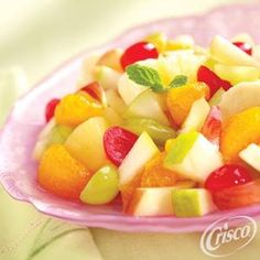 Both colorful and delicious, make this Tag Along Fruit Salad from Crisco® for your next summer gathering! Crisco Recipes, All Bran, Fruit Salad Recipes, Fruit Salads, Fruit Dishes, No Calorie Foods, Soup And Salad, Just Desserts, Yummy Food