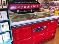 We love the way this freezer has been dressed to look like an Aga.