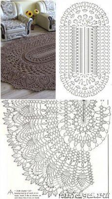 410 idees de tapis en crochet en 2021