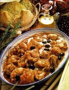Cacciatore, Paella, Biscotti, Chicken Recipes, Food And Drink, Cooking Recipes, Olive, Ethnic Recipes, Kitchen