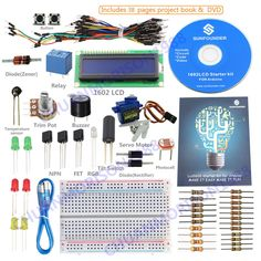 SunFounder New Project 1602 LCD Starter Kit For Arduino UNO R3 Mega 2560 Nano #SunFounder $24.99 & does not come with arduino