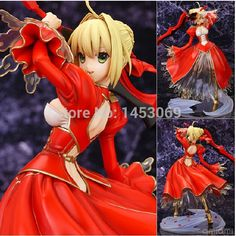 """(38.39$)  Know more - http://ai8l8.worlditems.win/all/product.php?id=32230433013 - """"Anime Fate Stay Night Fate/EXTRA Saber PVC Action Figure Collectible Model Toy 9"""""""" 23CM FNFG026"""""""