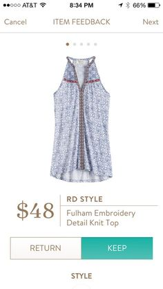 Stitch Fix Fashion 2017! Ask your stylist for something like this in your next fix, delivered right to your door! #sponsored #StitchFix RD Style Fulham embroidered detailed knit top