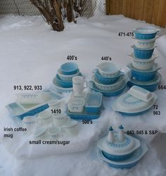 Snowflake Blue vintage pyrex (same as my set of bowls from Charlotte and Phillip)