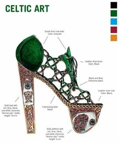 Celtic Shoe Art designed by Nick Adelman| Be Inspirational ❥|Mz. Manerz: Being well dressed is a beautiful form of confidence, happiness & politeness