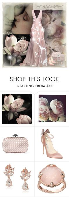 """""""Color Me Pretty: Head-to-Toe Pink"""" by dezaval ❤ liked on Polyvore featuring iCanvas, Pamella Roland, Bottega Veneta, Brian Atwood, Lavish by TJM and Narciso Rodriguez"""