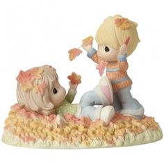 """""""Fall-ing In Love With You"""", Bisque Porcelain Figurine - New Arrivals - Precious Moments"""