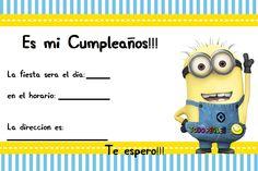 invitaciones de cumpleaños de minions para imprimir - Google Search