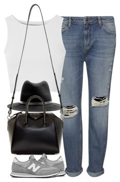 """""""Untitled #3747"""" by london-wanderlust ❤ liked on Polyvore featuring Whistles, Glamorous, rag & bone, Givenchy and New Balance"""