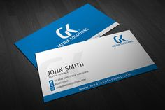 Creative Corporate Business Card 01 by EngoCreative.com on Creative Market