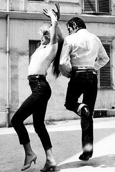 Brigitte Bardot dancing the Flamenco with her instructor, 1958