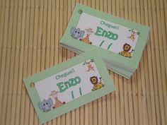 Tag Cartão Lembrancinha Safari