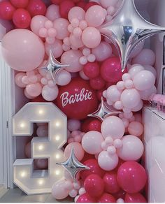 Barbie Theme Party, Party Themes, Balloon Wall, Balloons, 5th Birthday, Birthday Ideas, Ideas Para Fiestas, Barbie Dream, Balloon Decorations