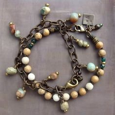 Bracelet Love, Bracelet Making, Jewelry Making, Beaded Jewelry, Jewelry Bracelets, Bracelets En Argent Sterling, Beads And Wire, Jewelry Design, Jewelry Ideas