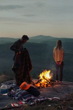 Camping on a mountain