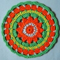 Crochet Mandala Wheel made by  Caro, Cambridgeshire, UK for  yarndale.co.uk