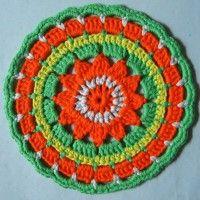 Crochet Mandala Wheel made by  Caro, Cambridgeshire, UK for  yarndale.co.uk
