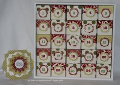 And yet another type of Advent Calendar. This one has a foam-core frame. Willow Garden, Paper Art, Paper Crafts, Anemone Flower, Christmas Decorations, Holiday Decor, 9 And 10, Advent Calendar, Stampin Up