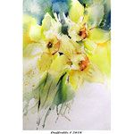 Daffodils I 2018 (O3) / 20x30cm Watercolour by ©janinaB.
