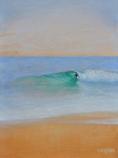 """Beach Break"" (16 in. x 24 in.), Acrylic relief painting on wood. wave paintings and surf art by Nathan Ledyard. http://facebook.com/nathanledyardart"