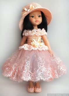 Платье для принцессы с розочками на куколок Паола Рейна / Одежда для кукол / Шопик. Продать купить куклу / Бэйбики. Куклы фото. Одежда для кукол