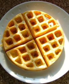Simple home-made waffles