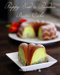 Recipe: Poppy Seed & Pandan Butter Cake