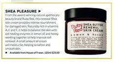 Need a Christmas beauty boost? Time & Leisure magazine recommends our Lemon and Honey Shea Butter Skin Cream for all your skincare needs.
